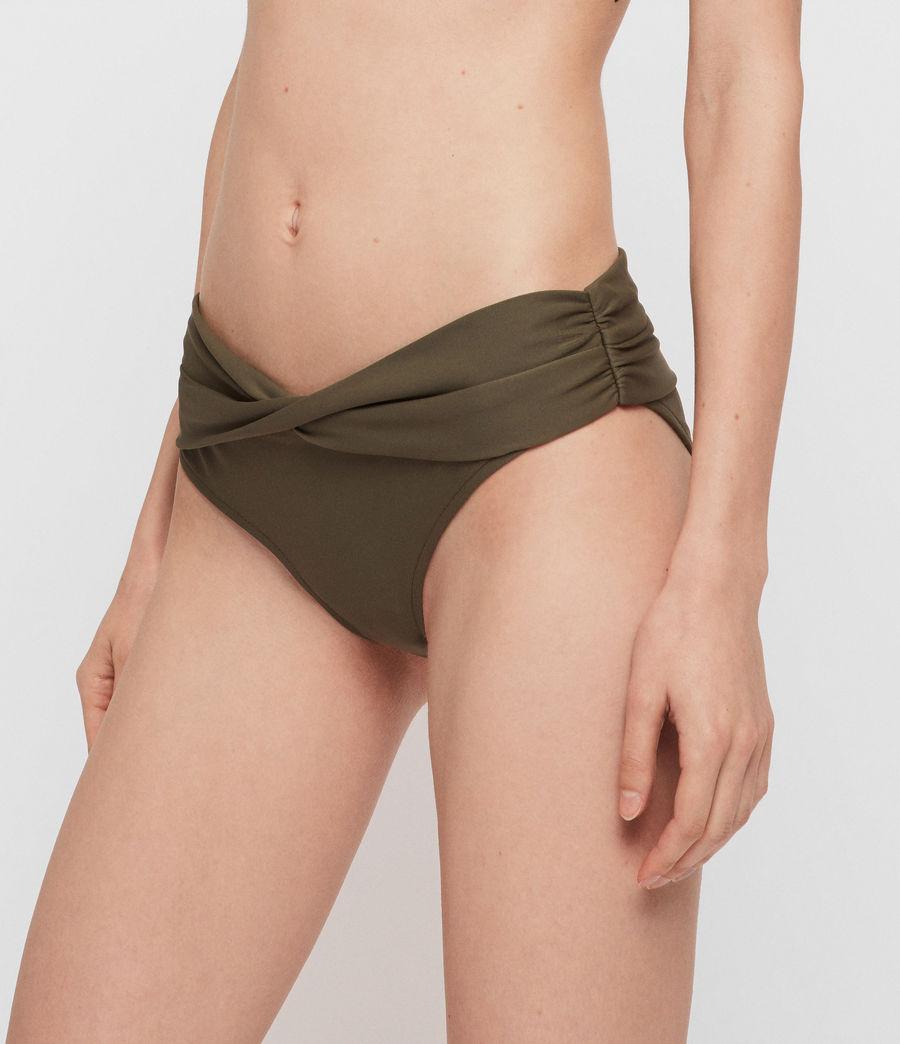 Womens Libbie Bikini Bottoms (khaki) - Image 2