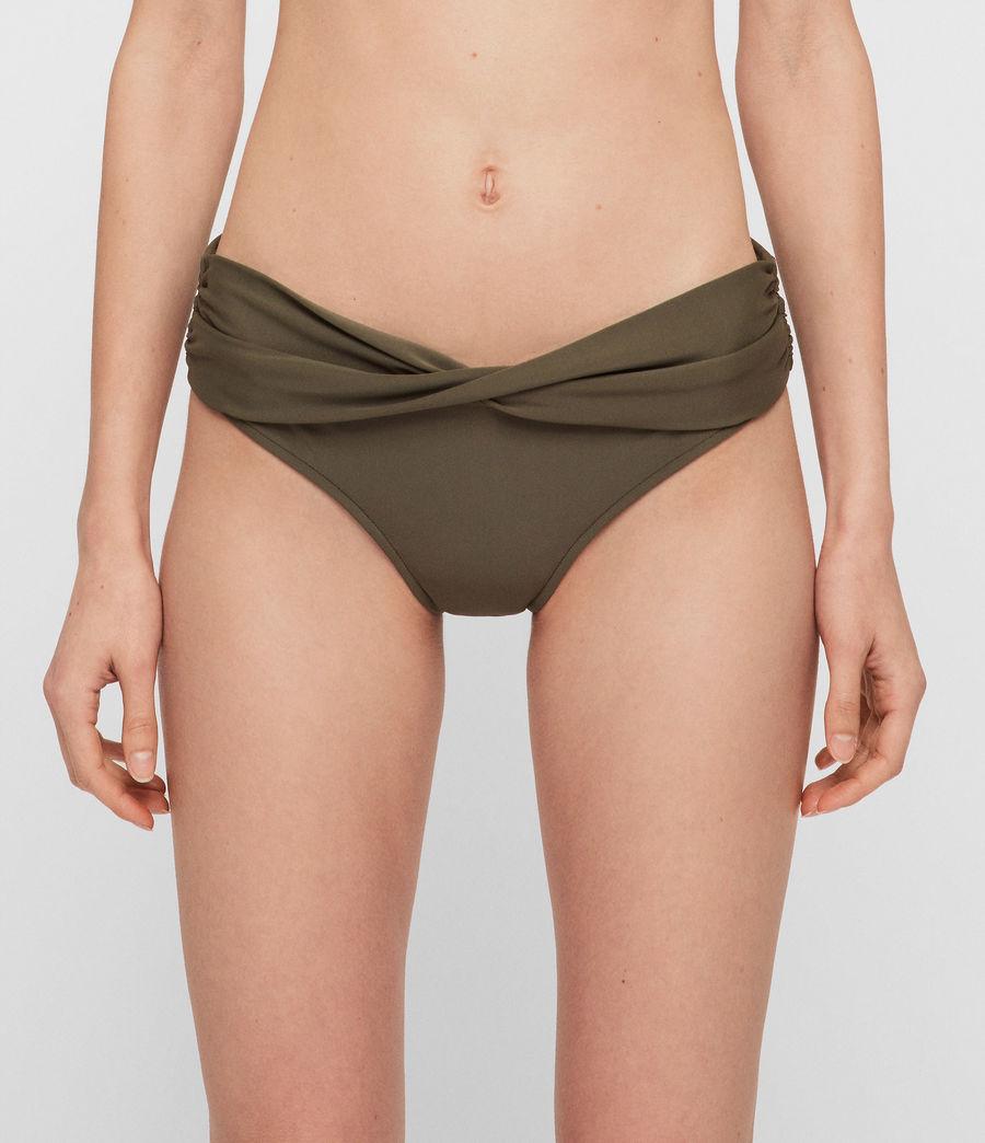 Womens Libbie Bikini Bottoms (khaki) - Image 3