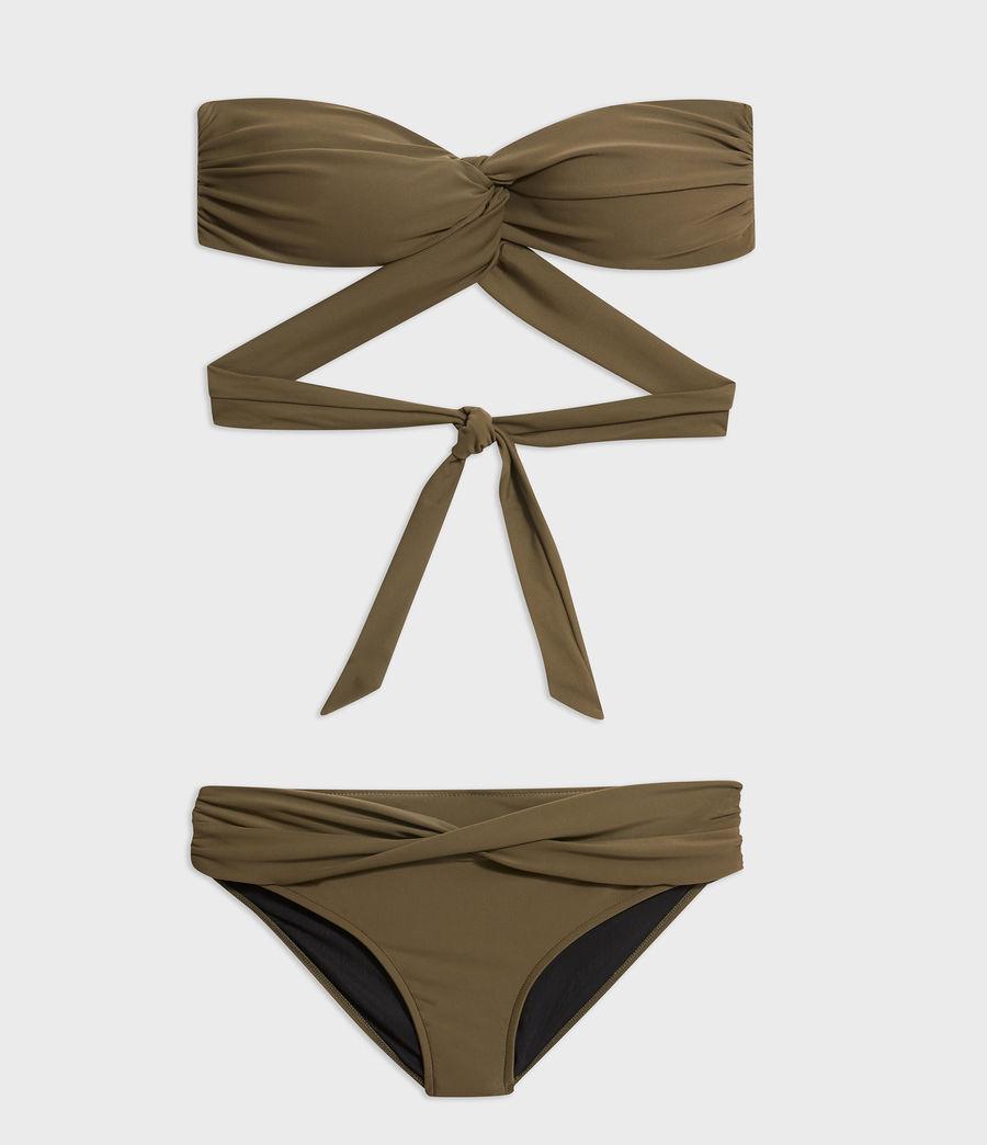 Women's Libbie Bikini Bottoms (khaki) - Image 4