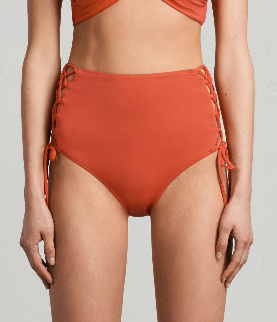 Women's Lazo Highwaist Bikini Briefs (red) - Image 2
