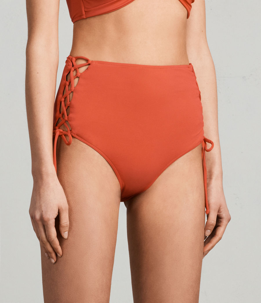 Women's Lazo Highwaist Bikini Briefs (red) - Image 3