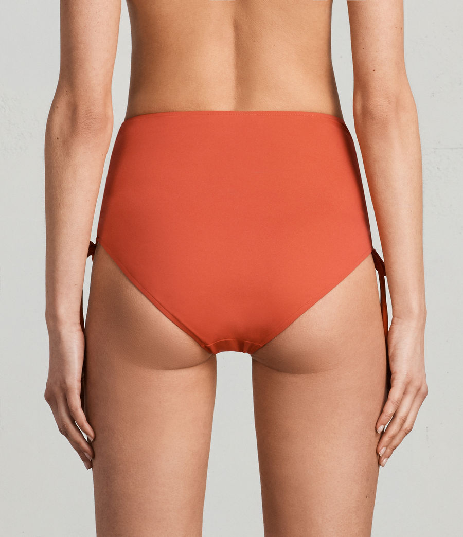 Women's Lazo Highwaist Bikini Briefs (red) - Image 4