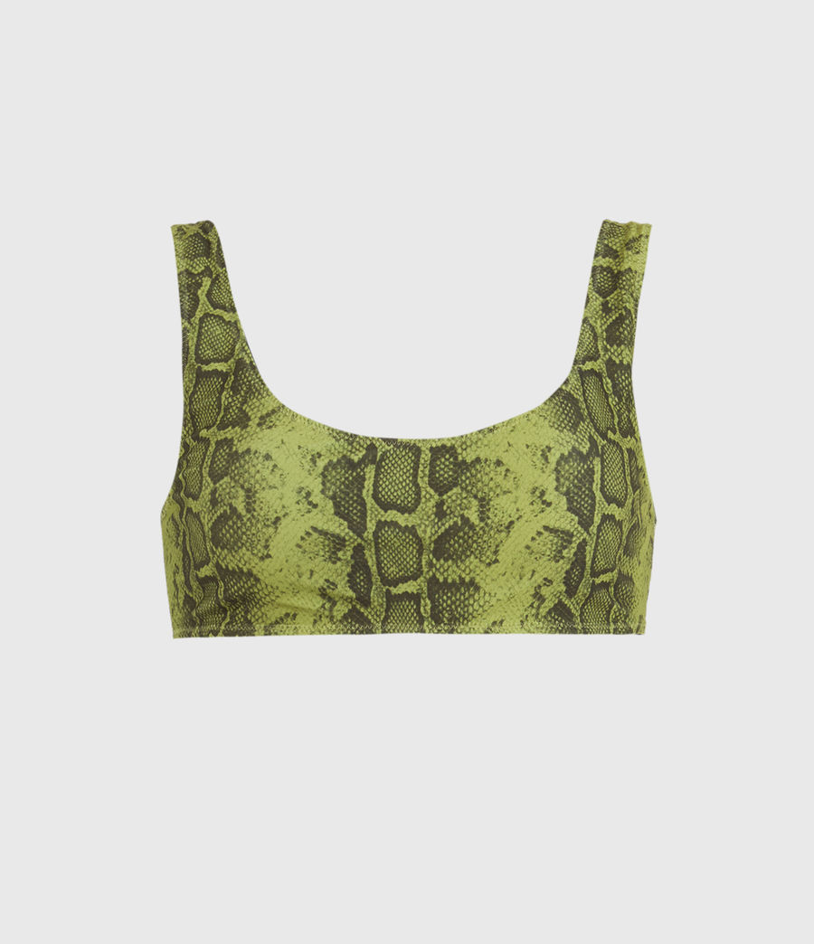 Femmes Haut de Maillot Réversible Olivia (snake_green_black) - Image 1