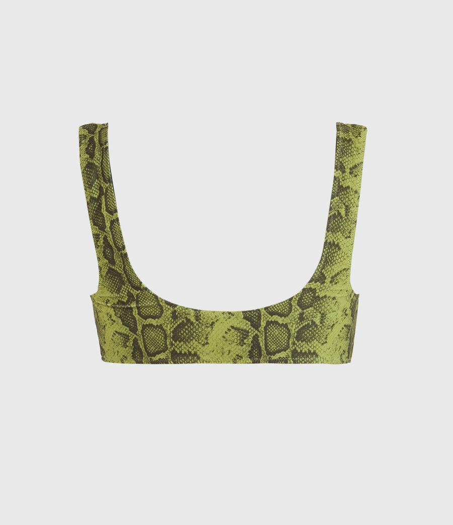 Femmes Haut de Maillot Réversible Olivia (snake_green_black) - Image 2