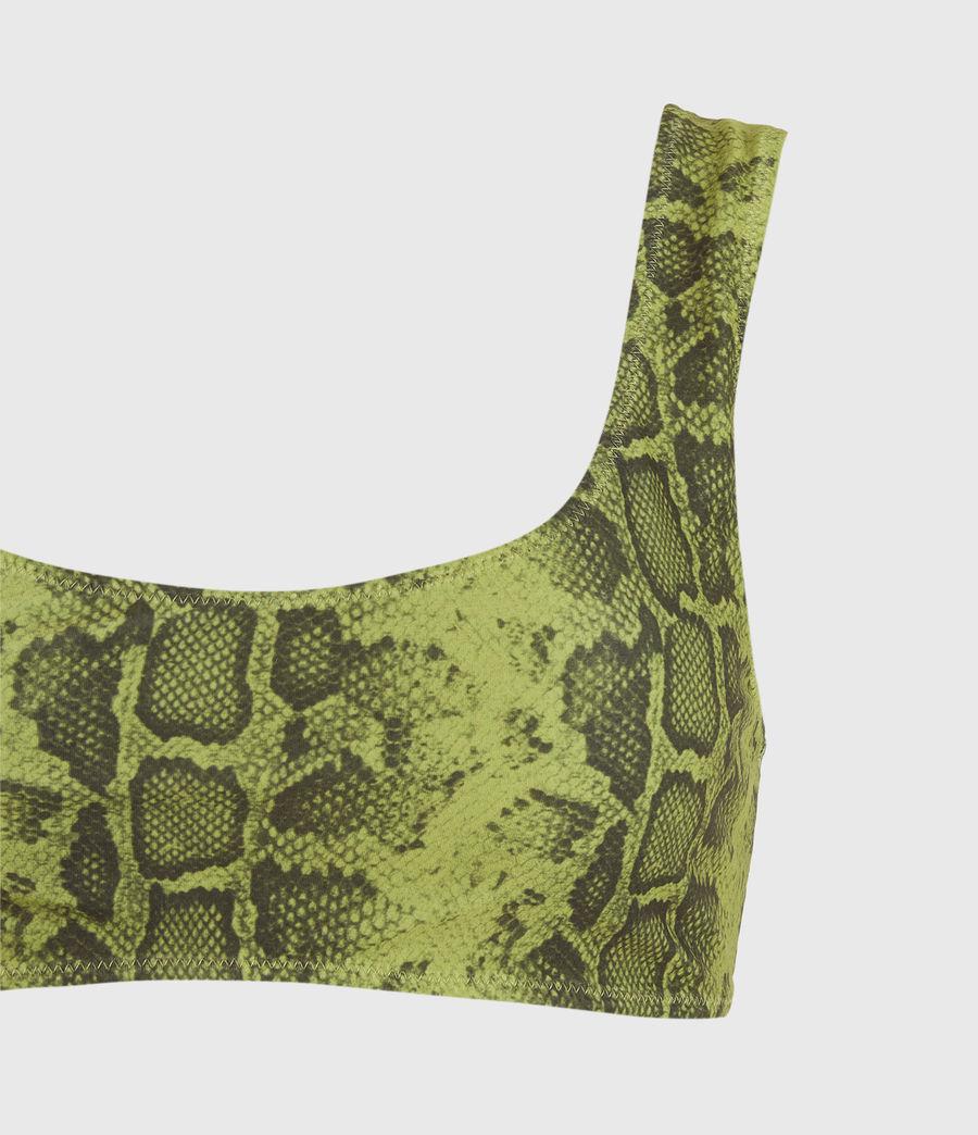 Femmes Haut de Maillot Réversible Olivia (snake_green_black) - Image 5