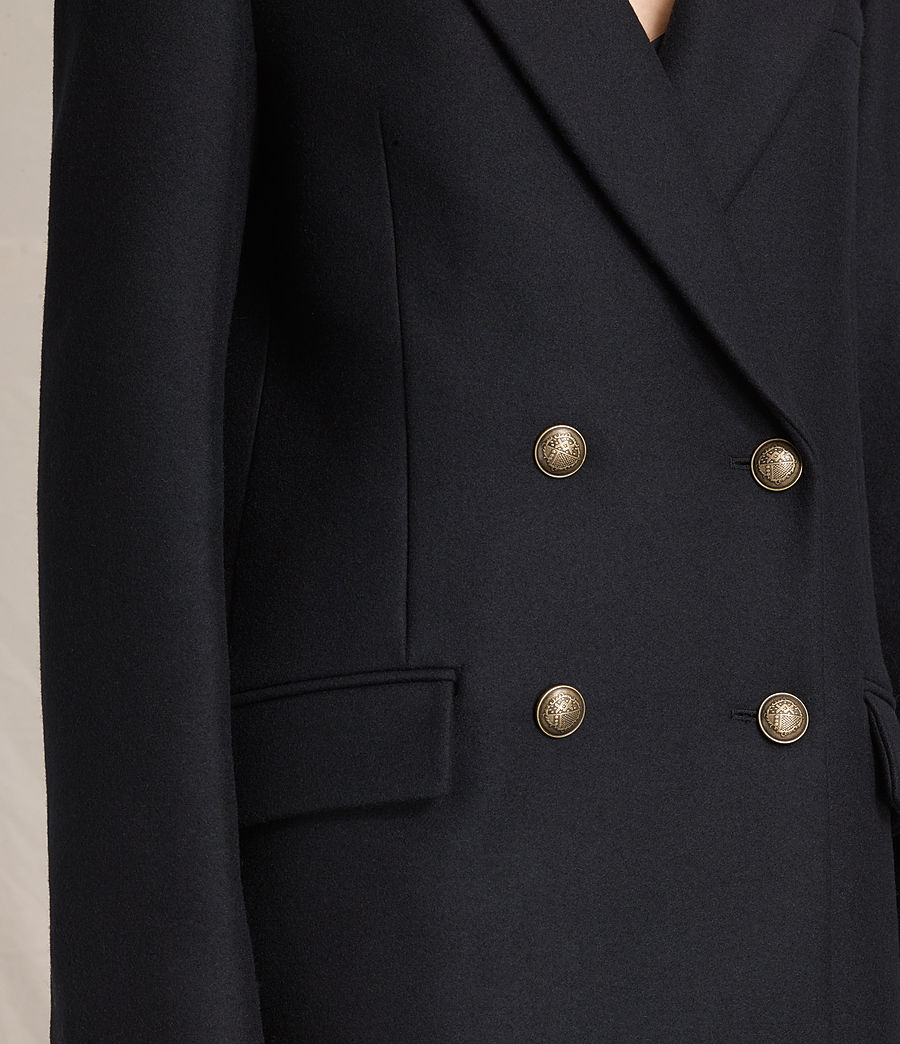 Women's Alice Nesi Coat (ink_blue) - Image 3
