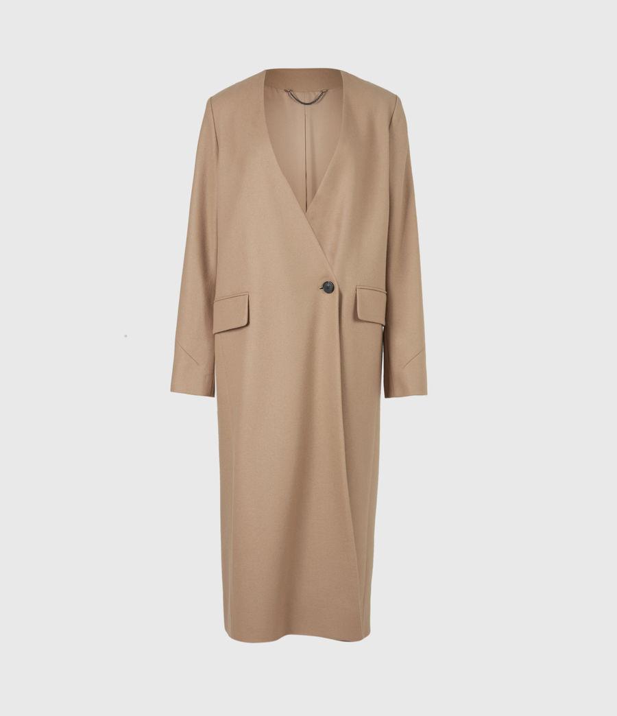 Women's Rada Cashmere-Wool Coat (camel_brown) - Image 2