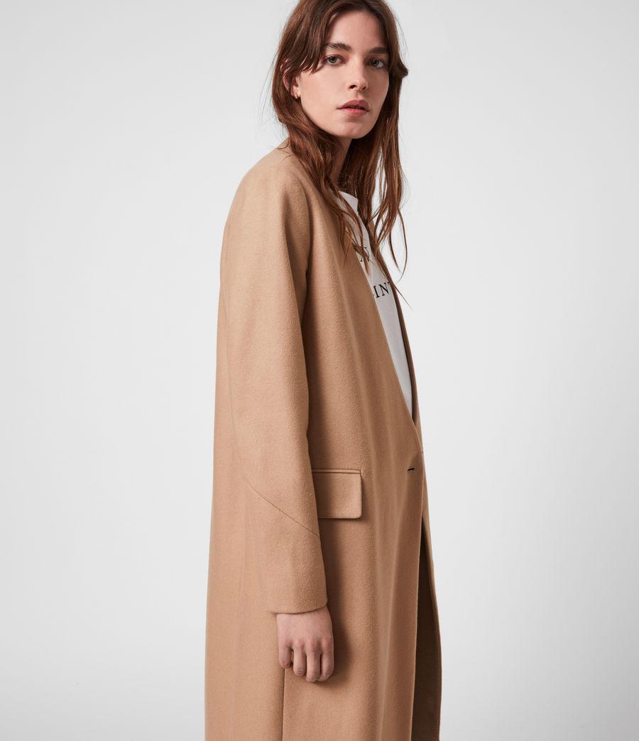 Women's Rada Cashmere-Wool Coat (camel_brown) - Image 4