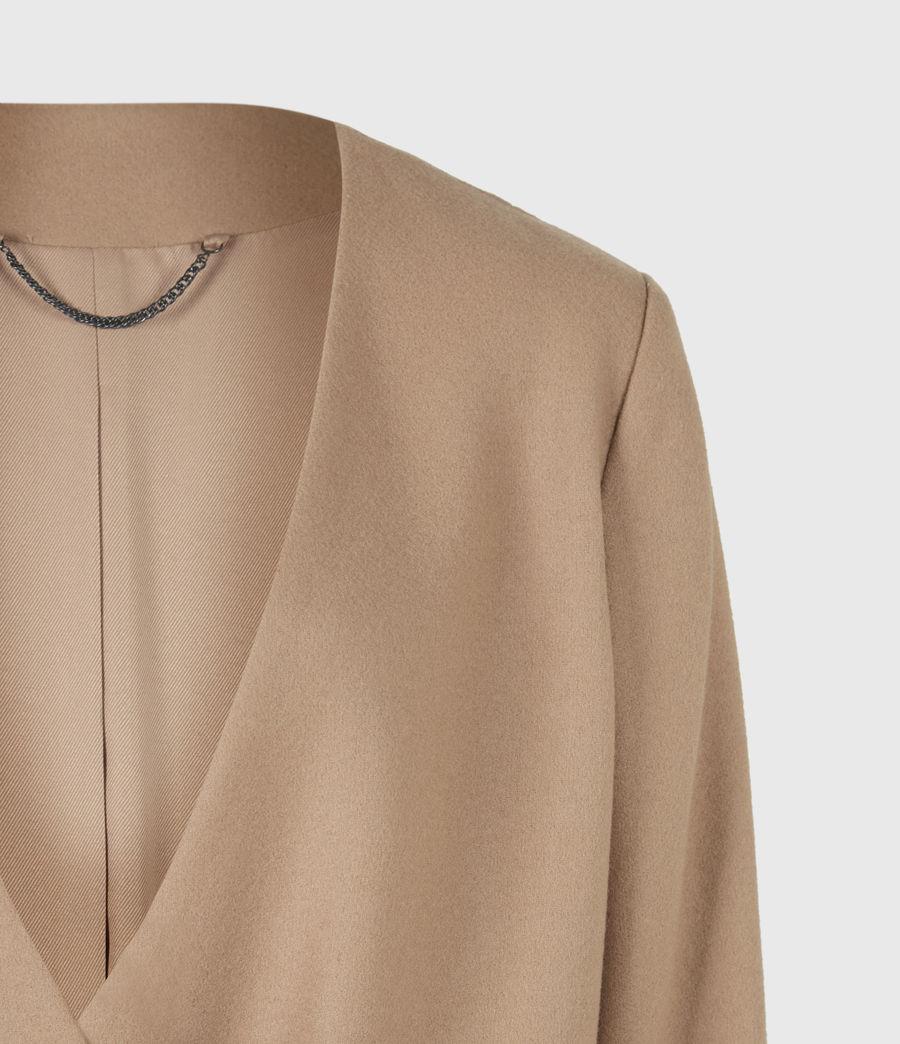 Women's Rada Cashmere-Wool Coat (camel_brown) - Image 5