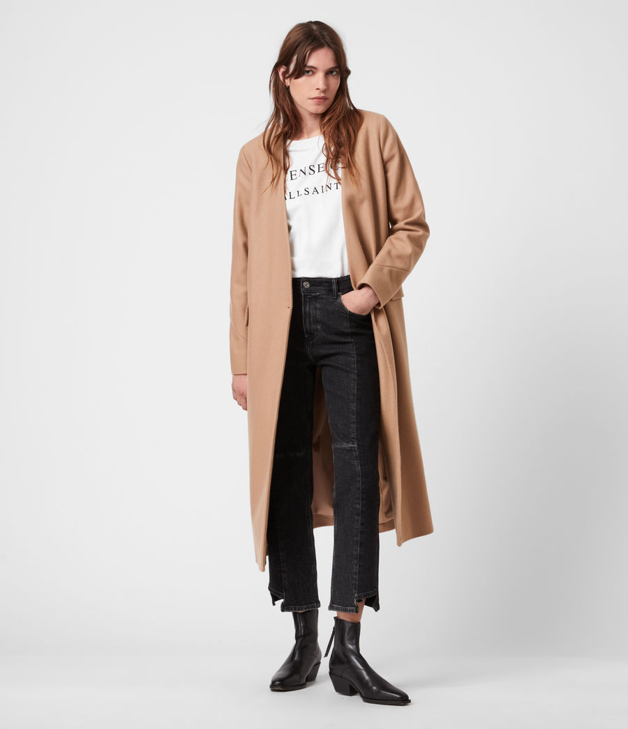 Women's Rada Cashmere-Wool Coat (camel_brown) - Image 7