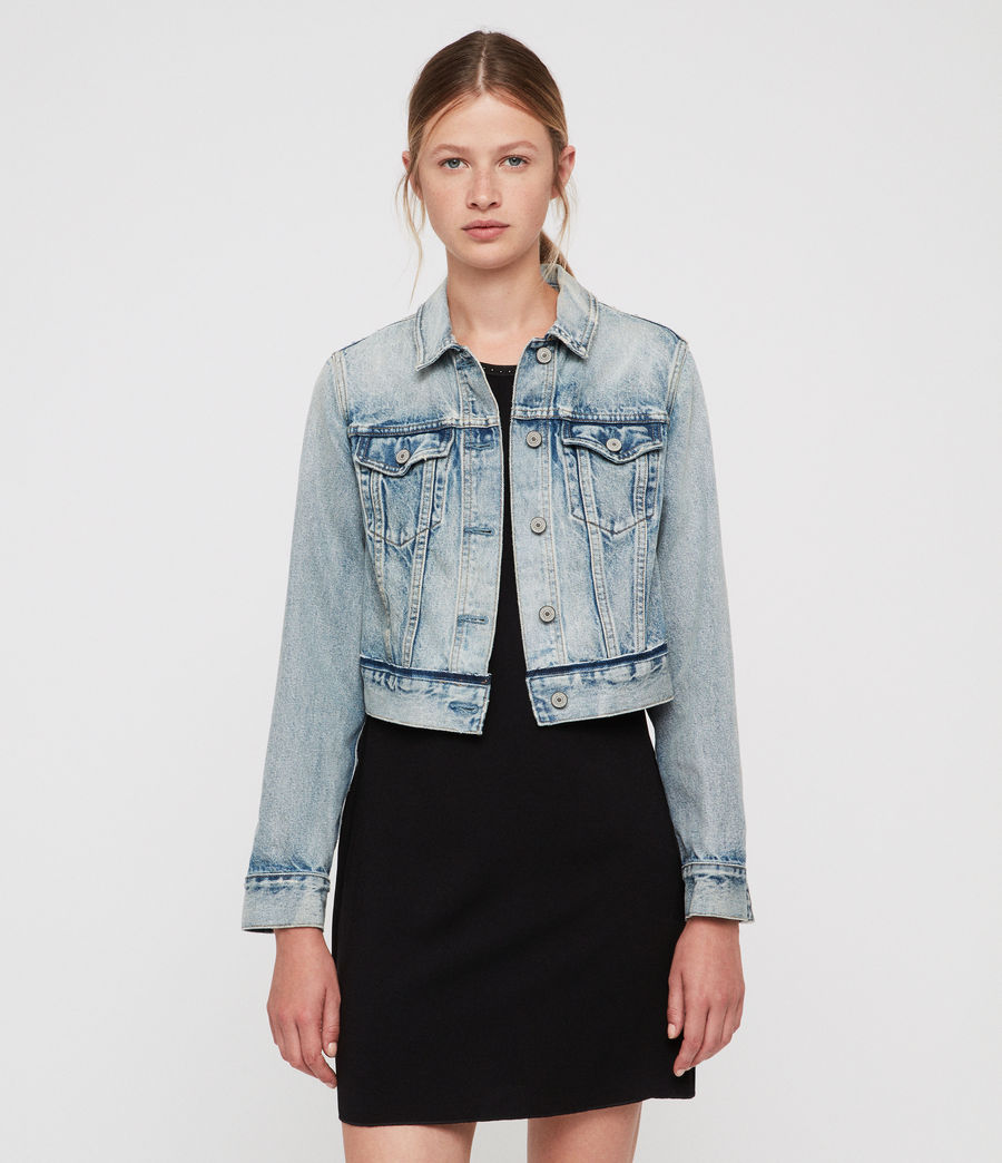 Women's Hay Cropped Jacket (indigo_blue) - Image 1