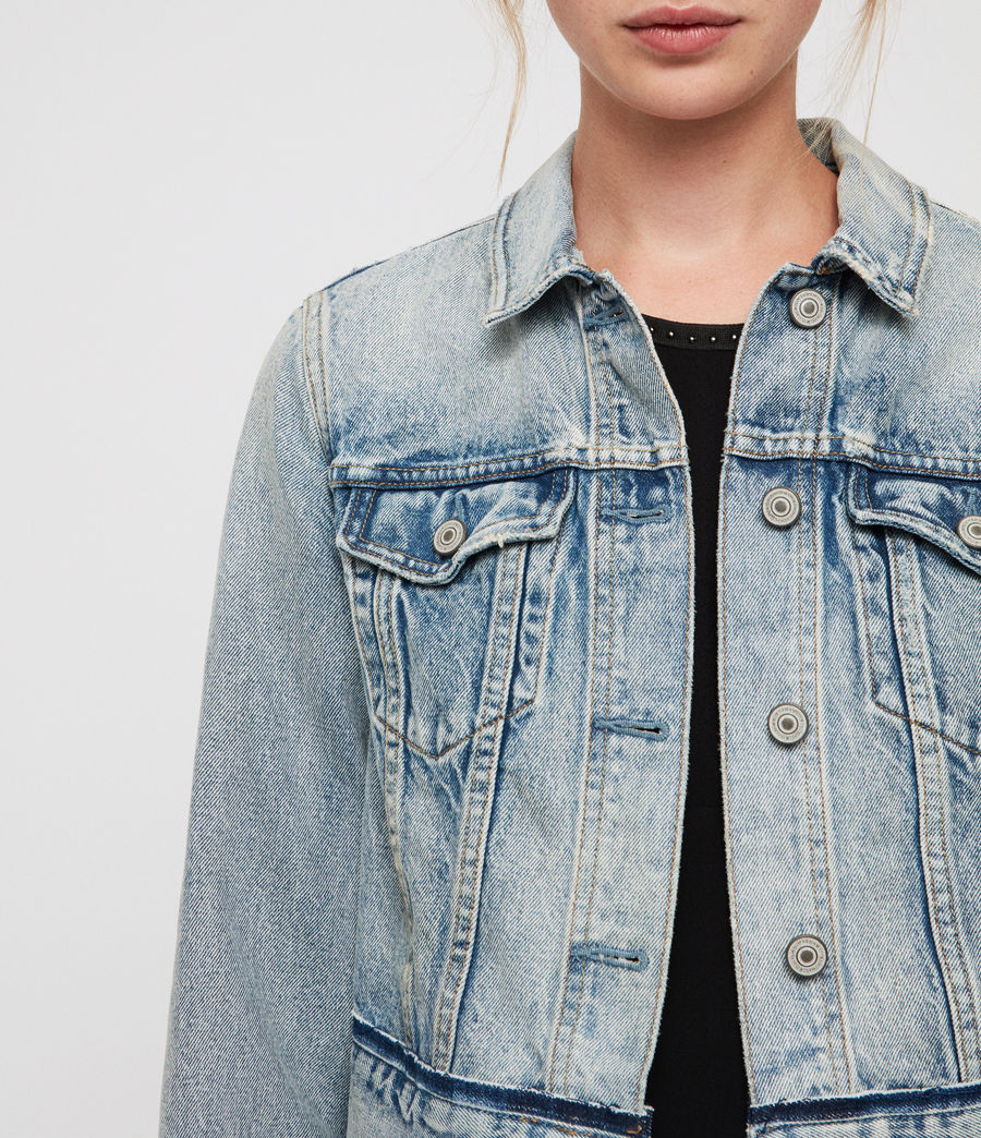 Women's Hay Cropped Jacket (indigo_blue) - Image 2