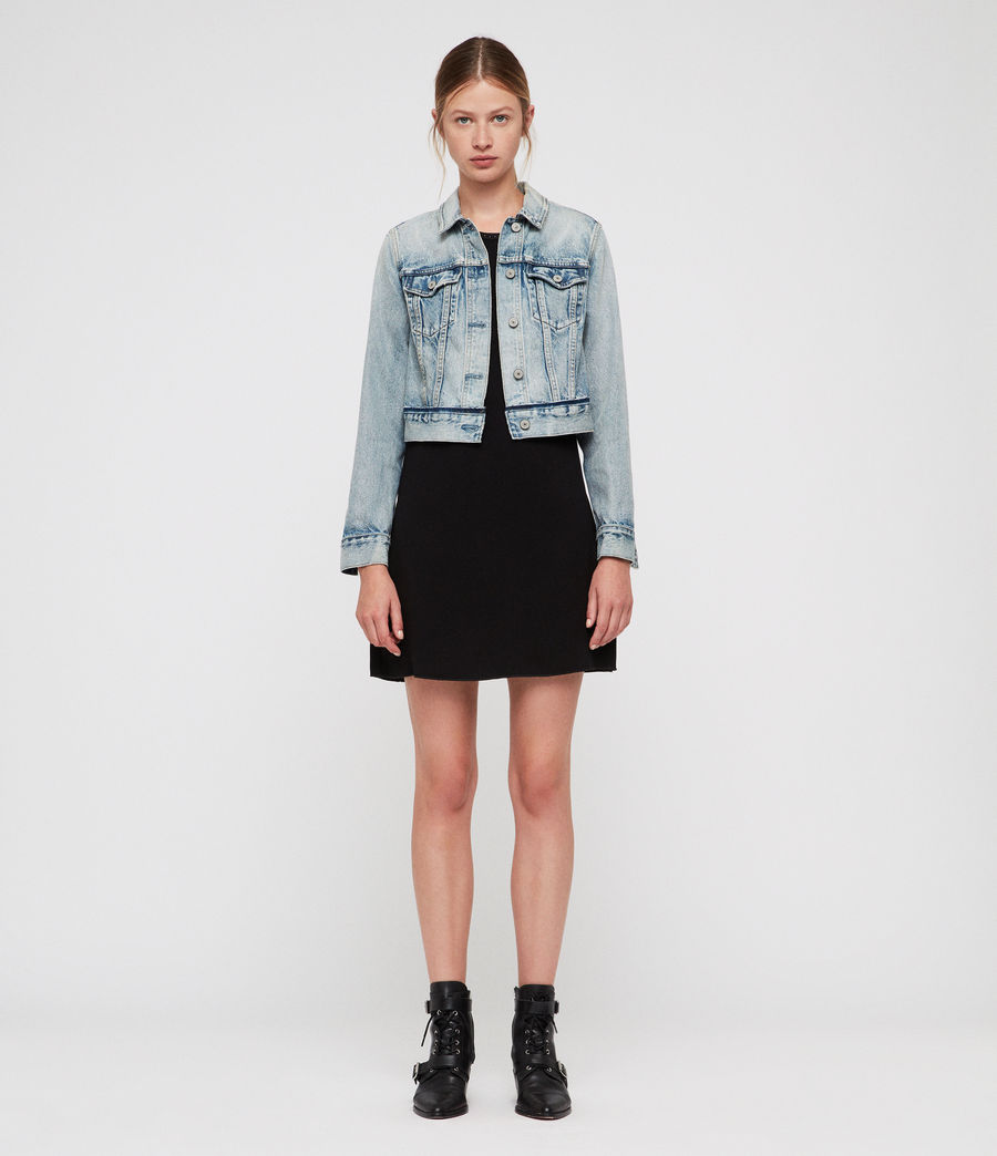 Women's Hay Cropped Jacket (indigo_blue) - Image 3