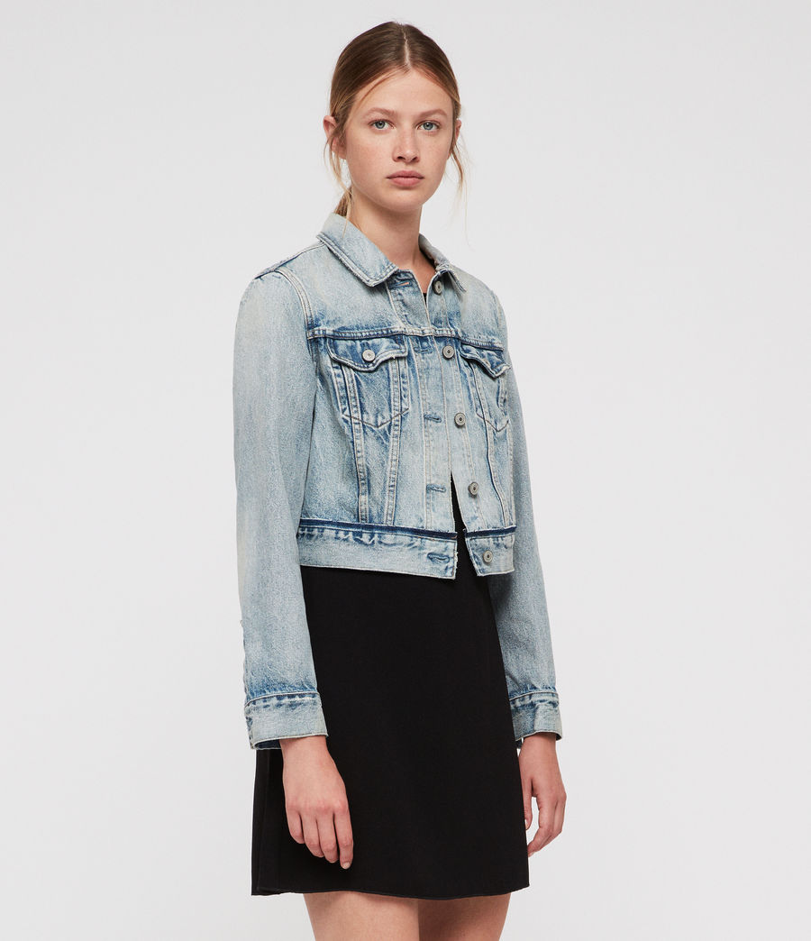 Women's Hay Cropped Jacket (indigo_blue) - Image 4