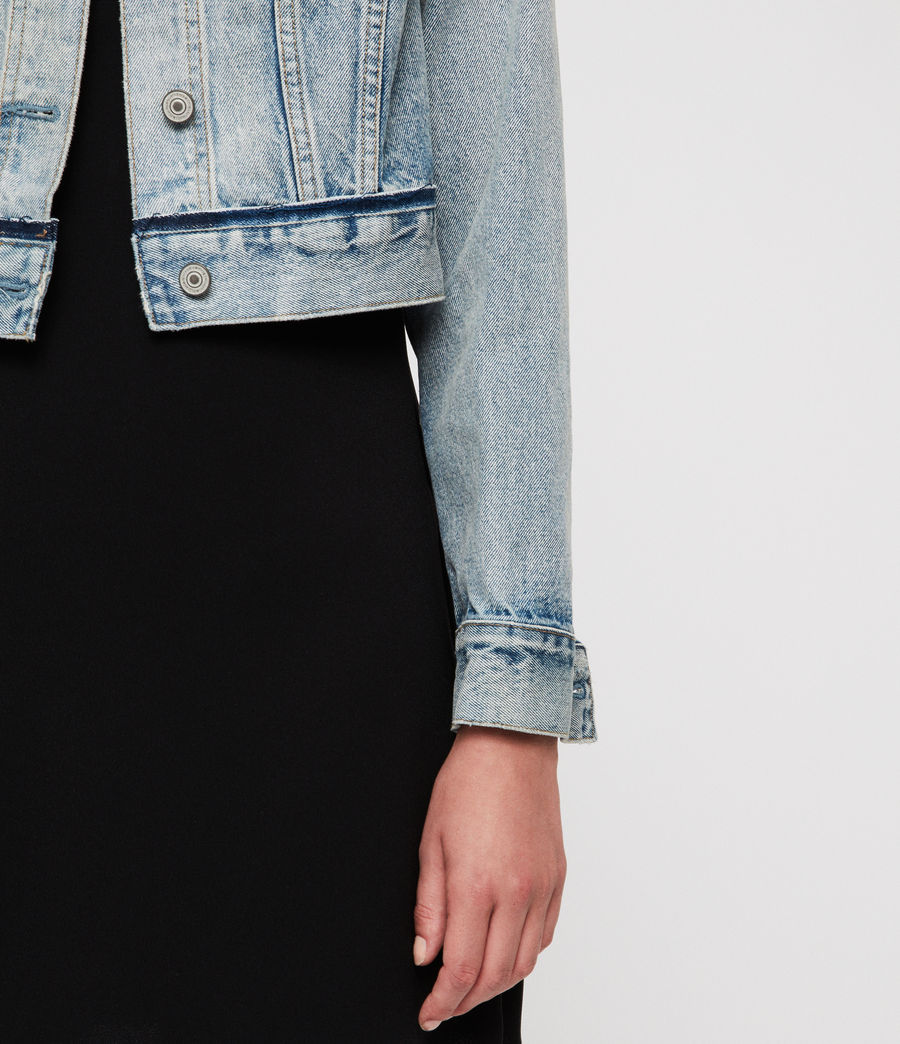 Women's Hay Cropped Jacket (indigo_blue) - Image 5