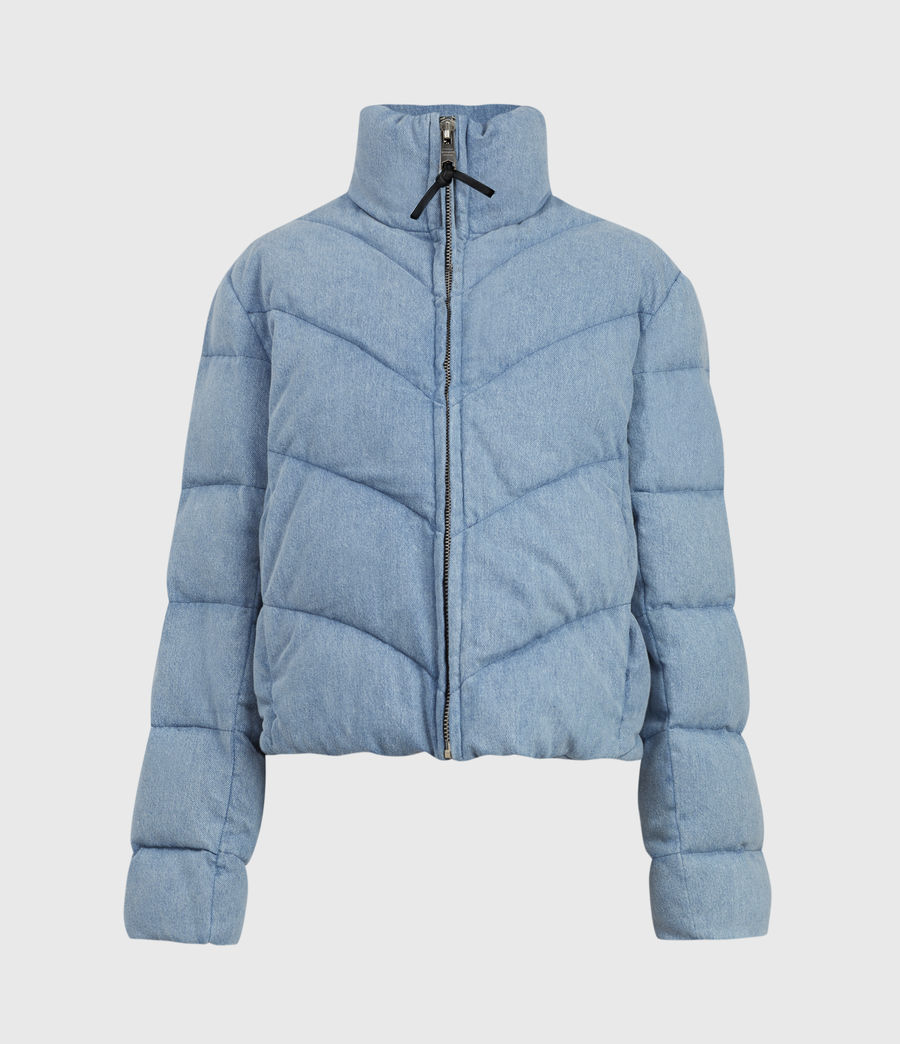 Womens Dallas Denim Puffer (light_indigo) - Image 2
