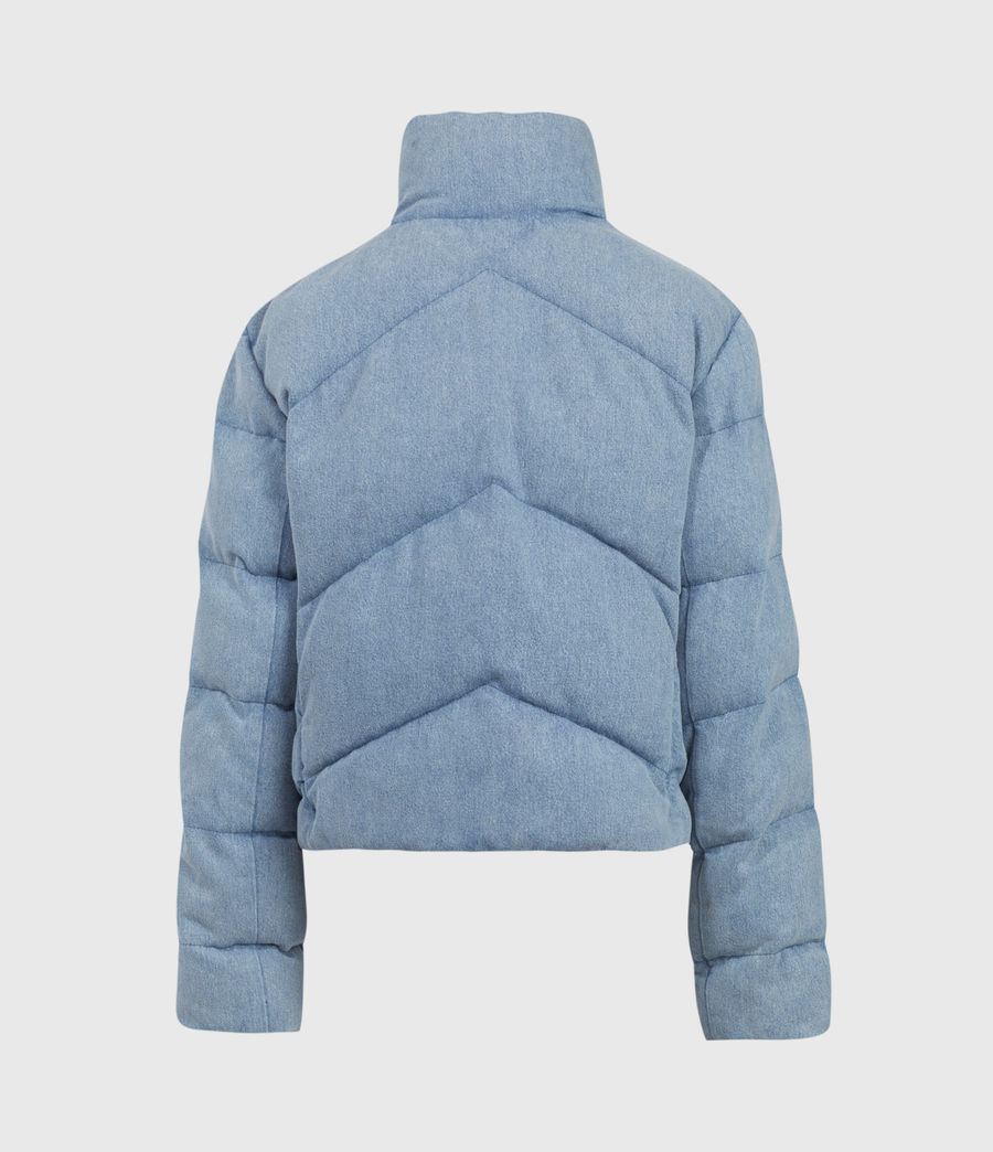 Womens Dallas Denim Puffer (light_indigo) - Image 3