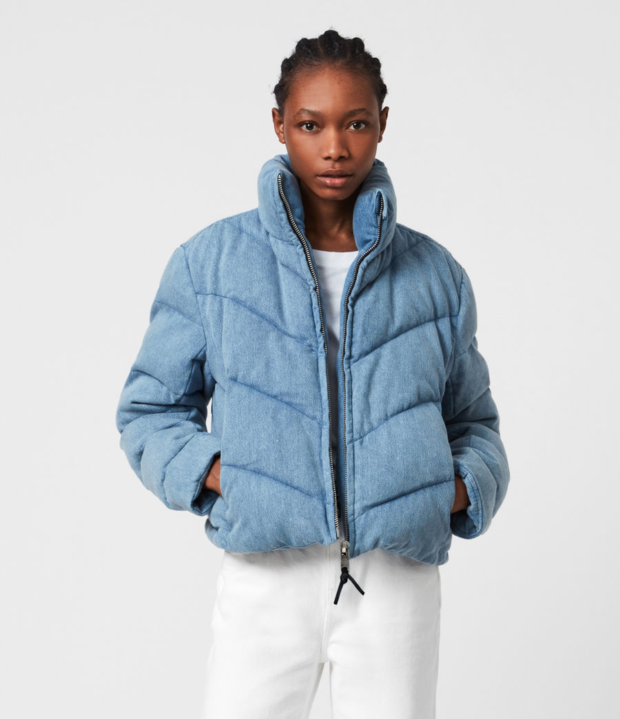 Womens Dallas Denim Puffer (light_indigo) - Image 4
