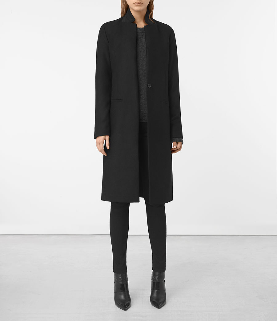 Womens Nehru Coat (black) - Image 1