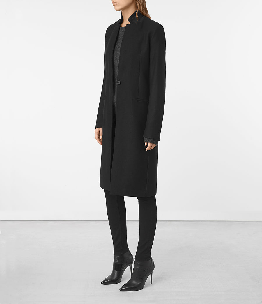 Womens Nehru Coat (black) - Image 3