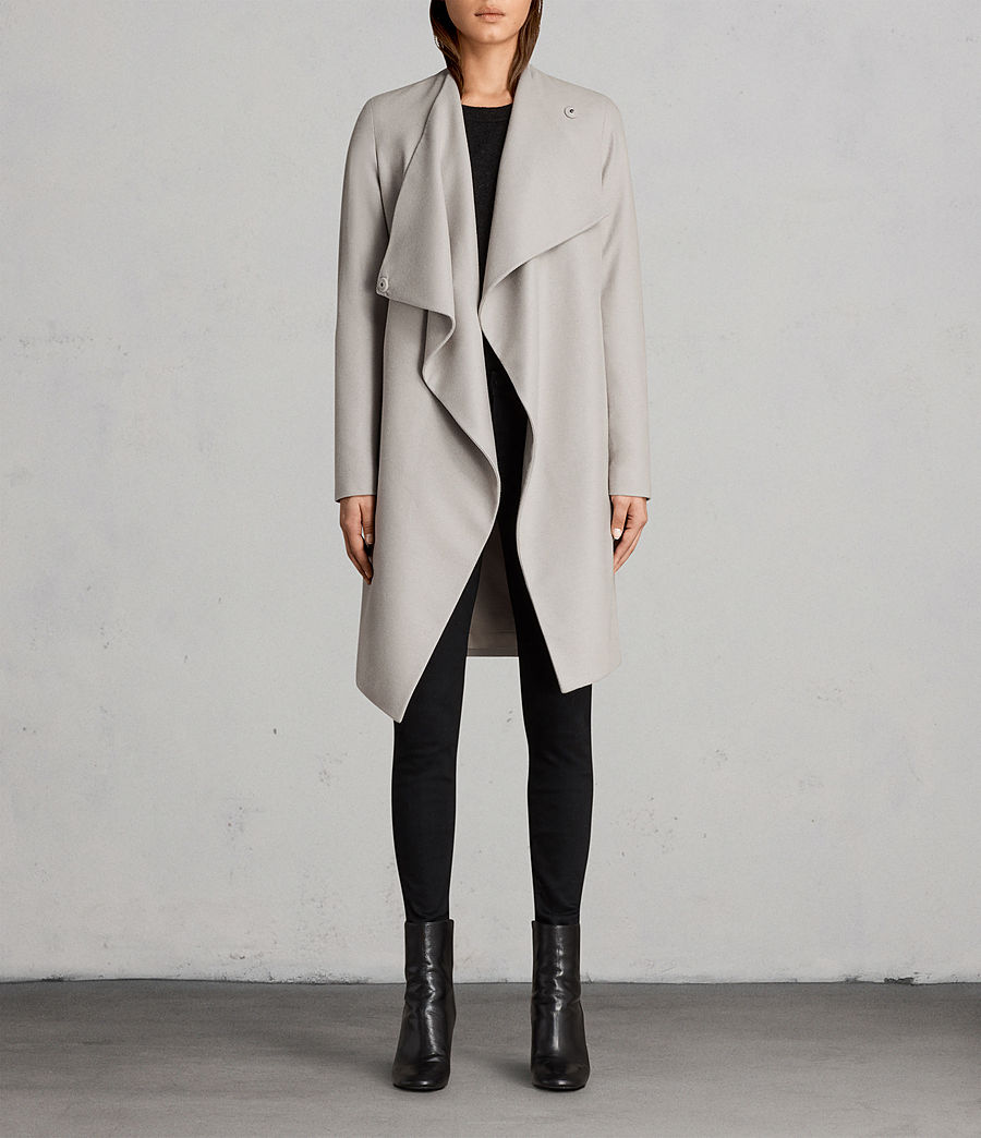 Womens Ora Coat (pebble_grey) - Image 1