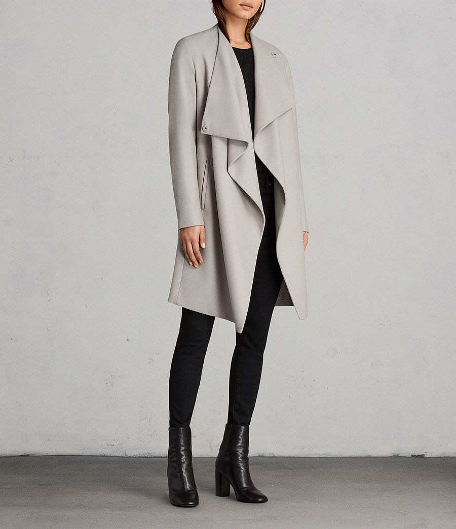 Womens Ora Coat (pebble_grey) - Image 3
