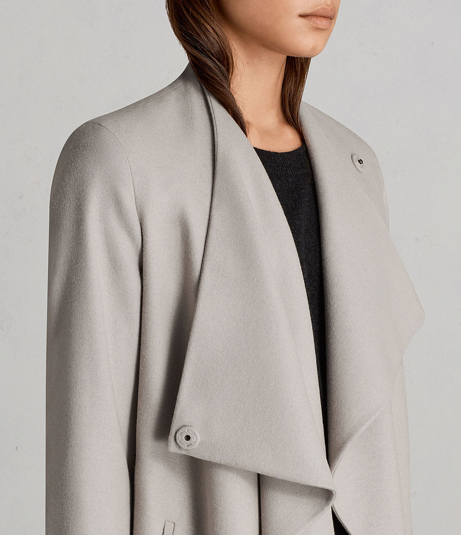 Womens Ora Coat (pebble_grey) - Image 4