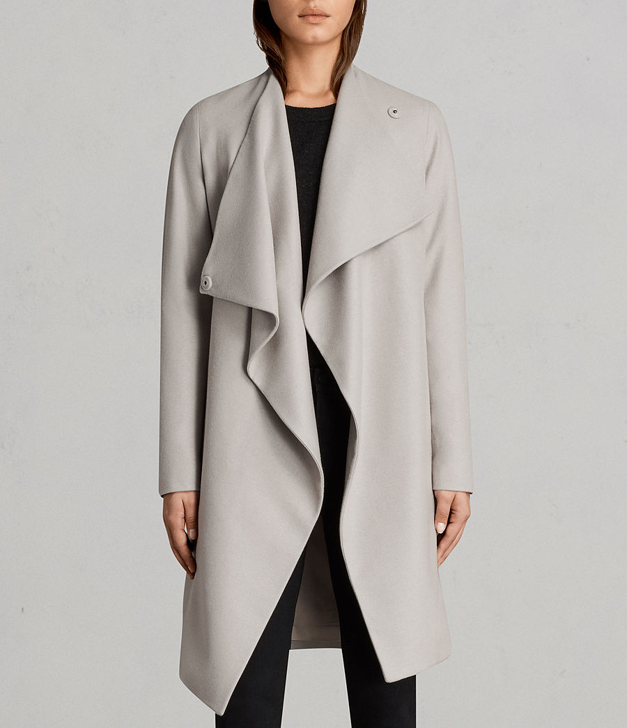 Womens Ora Coat (pebble_grey) - Image 5