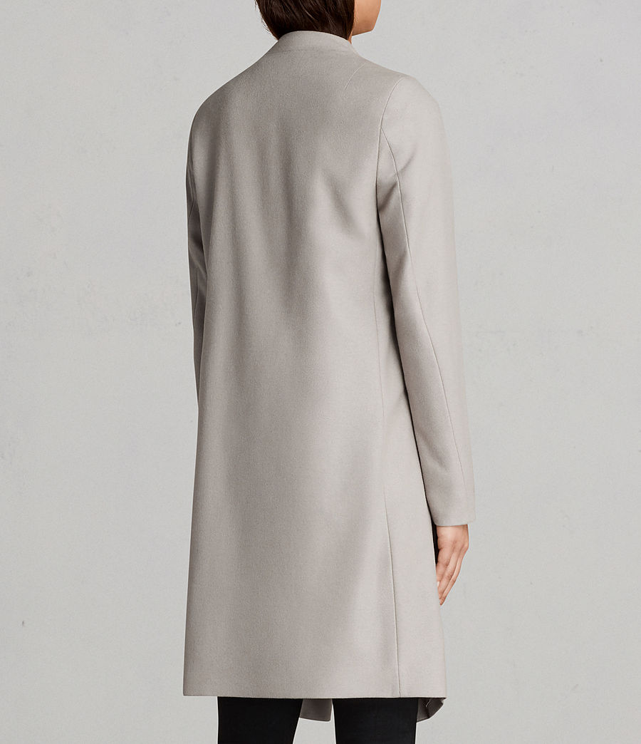 Womens Ora Coat (pebble_grey) - Image 7