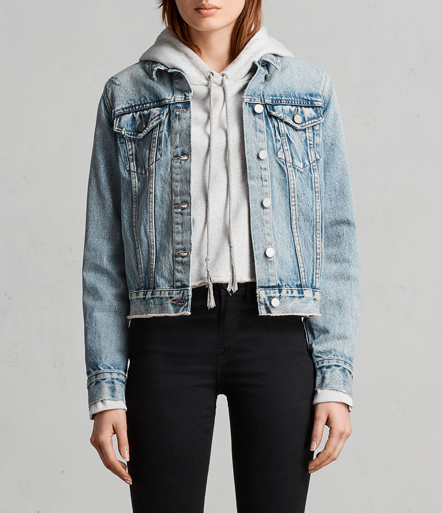 Womens Hay Denim Buckle Jacket (indigo_blue) - Image 1