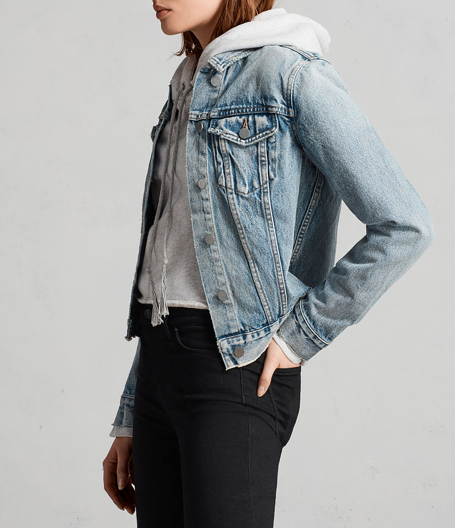 Womens Hay Denim Buckle Jacket (indigo_blue) - Image 3