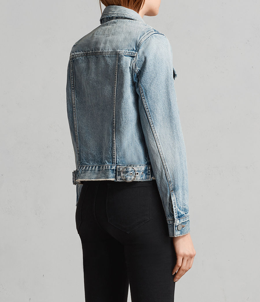 Womens Hay Denim Buckle Jacket (indigo_blue) - Image 5