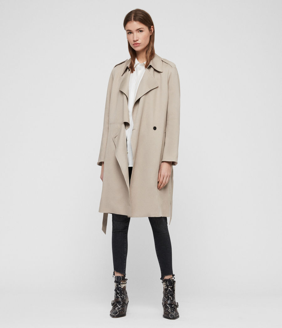 Womens Bexley Trench Coat (beige) - Image 1