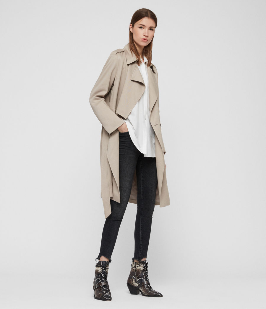 Womens Bexley Trench Coat (beige) - Image 2