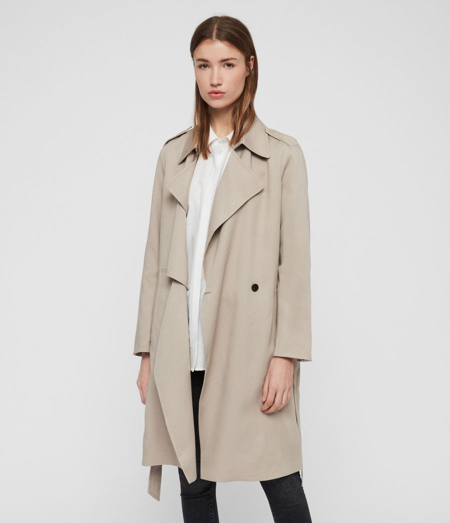 Womens Bexley Trench Coat (beige) - Image 3
