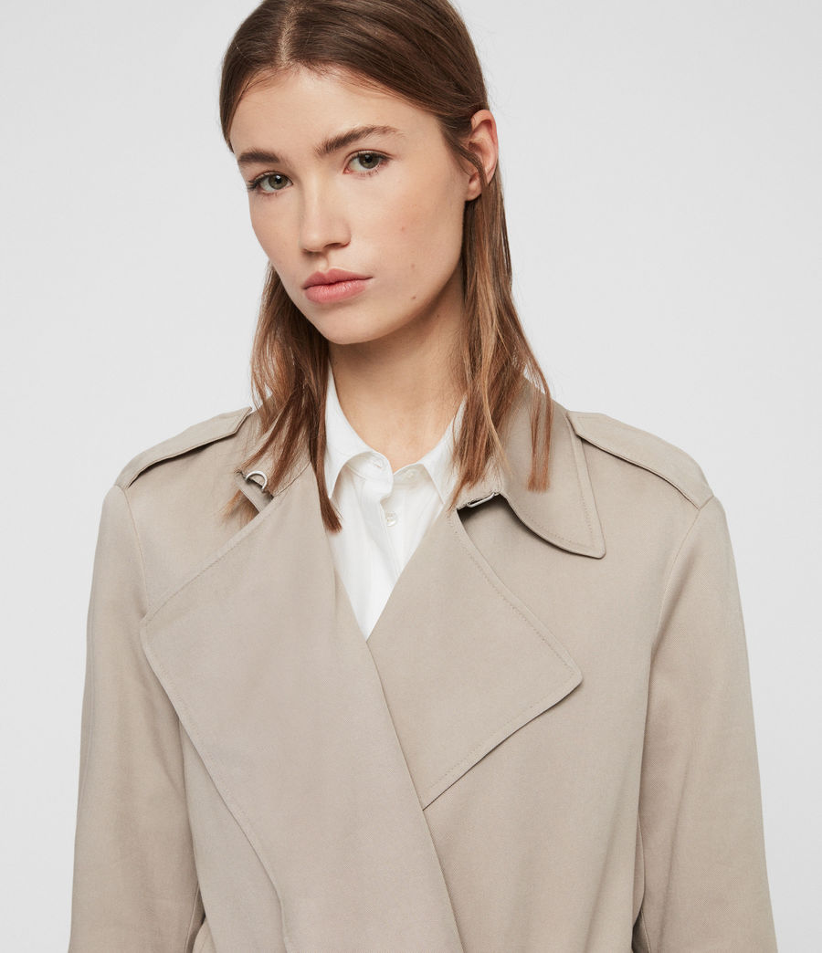 Womens Bexley Trench Coat (beige) - Image 4