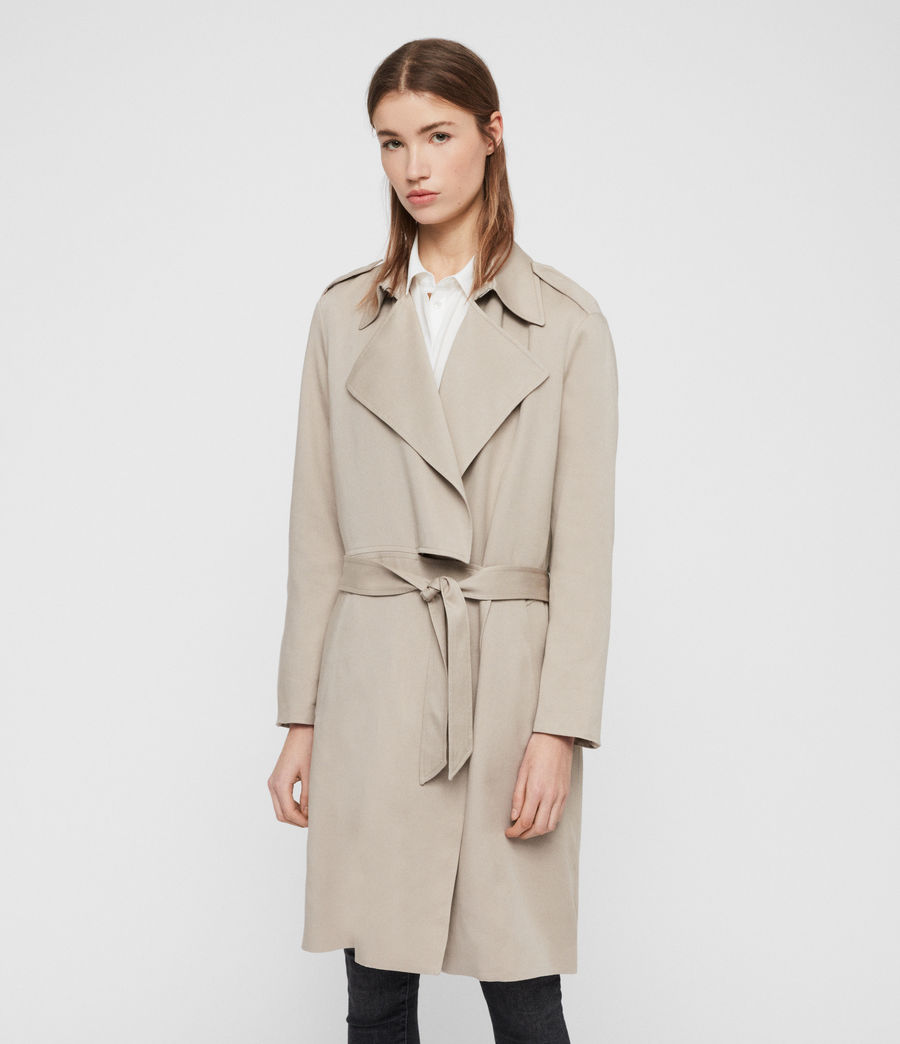 Womens Bexley Trench Coat (beige) - Image 5