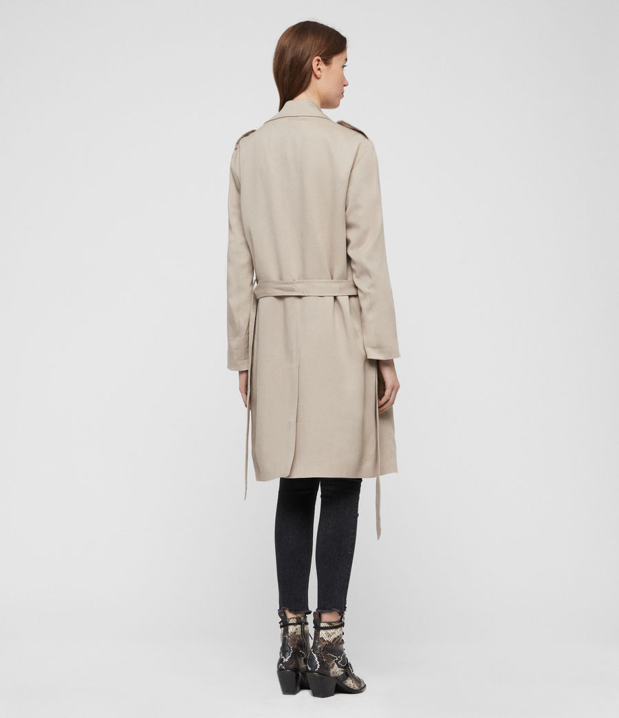 Womens Bexley Trench Coat (beige) - Image 6
