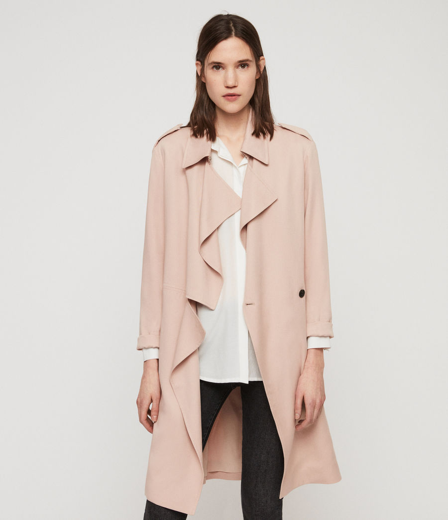 Womens Bexley Trench Coat (blush_pink) - Image 1