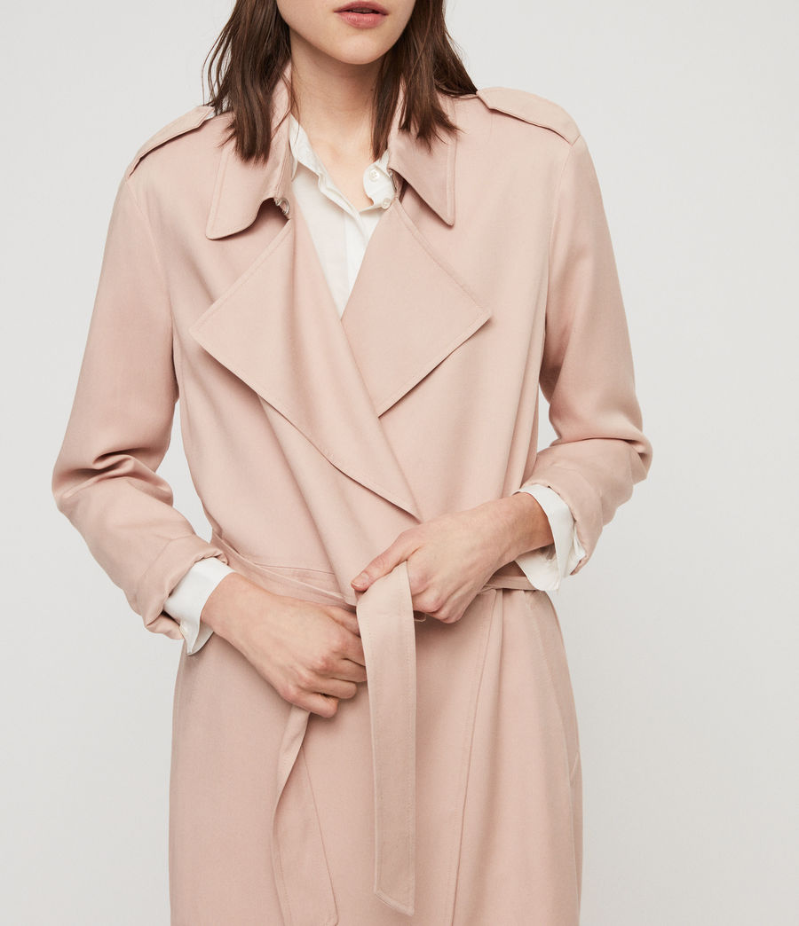 Womens Bexley Trench Coat (blush_pink) - Image 2