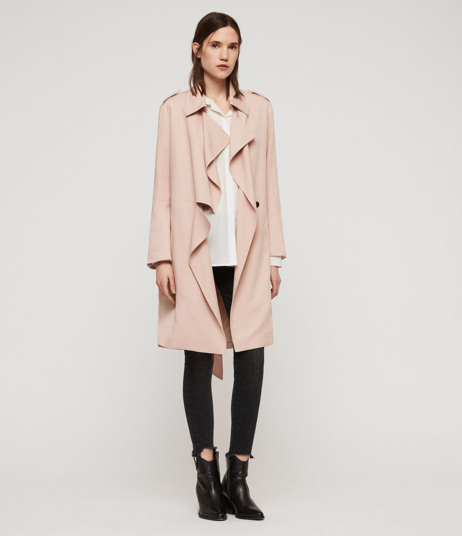 Womens Bexley Trench Coat (blush_pink) - Image 3
