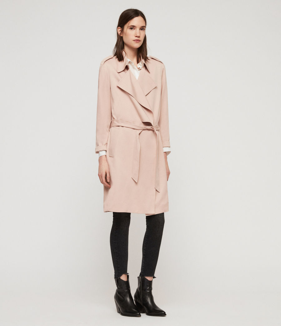 Womens Bexley Trench Coat (blush_pink) - Image 4
