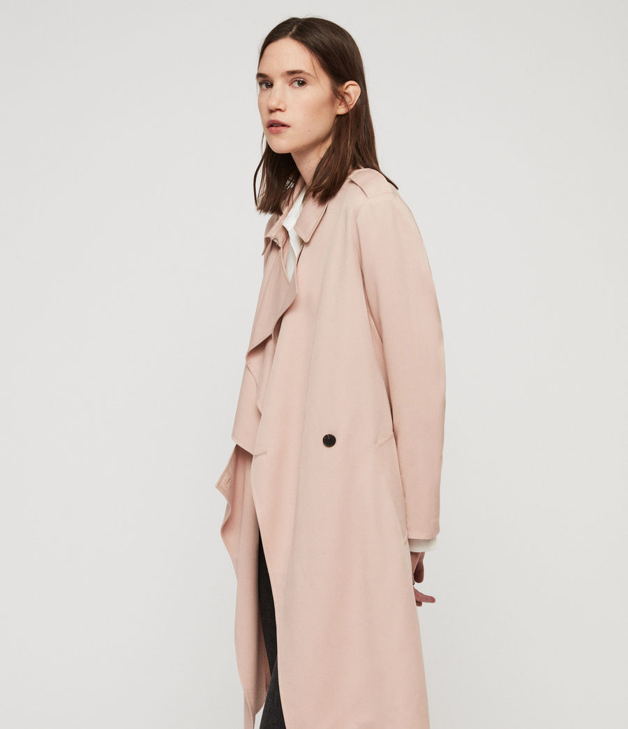 Womens Bexley Trench Coat (blush_pink) - Image 5
