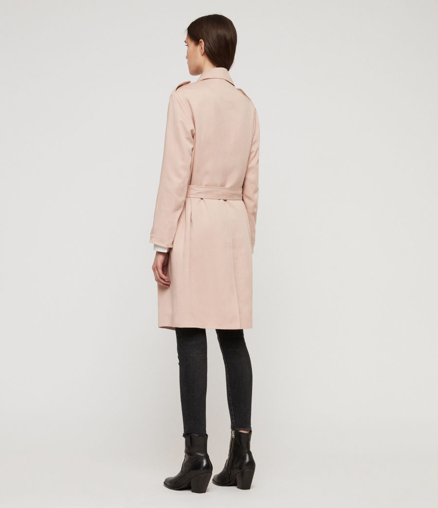 Womens Bexley Trench Coat (blush_pink) - Image 6