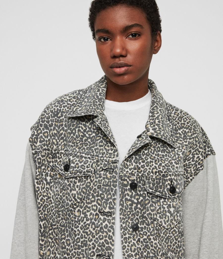 Womens Anders Denim Jacket (leopard) - Image 2