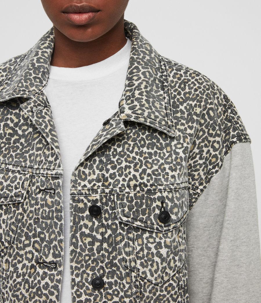 Womens Anders Denim Jacket (leopard) - Image 3