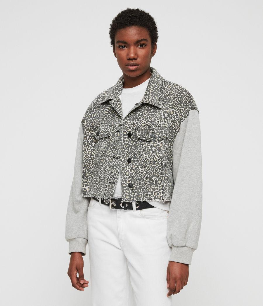 Womens Anders Denim Jacket (leopard) - Image 4