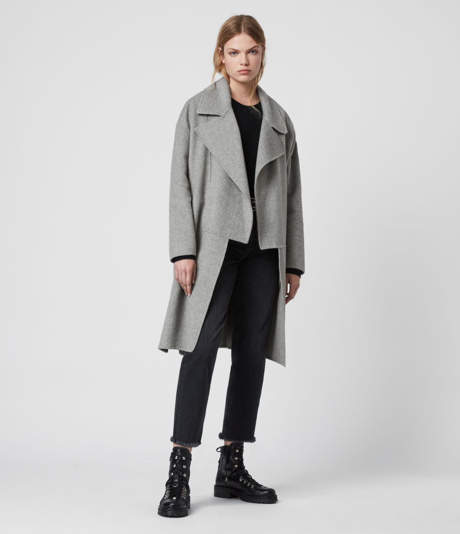 Women's Ryder Coat (pale_grey) - Image 1