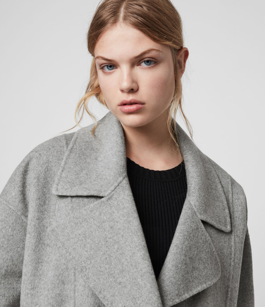 Women's Ryder Coat (pale_grey) - Image 2