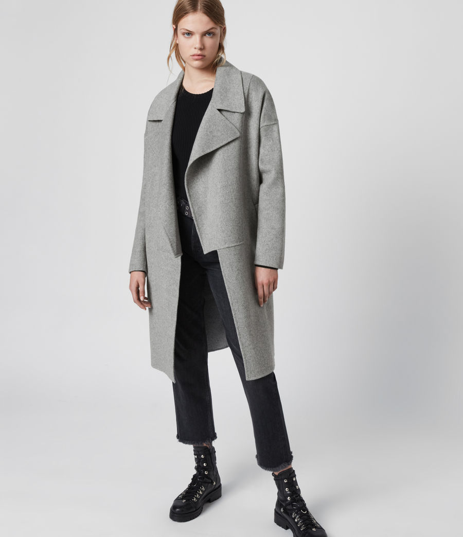 Womens Ryder Coat (pale_grey) - Image 2
